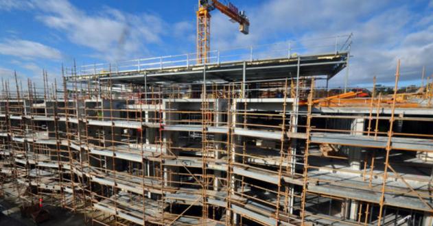 Investimento em construção com um crescimento de 4,8% no final de 2020